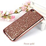 Galaxy J1 2015 Glitter Case,Bling Case for Samsung Galaxy J1 2015,Leeook Luxury Creative Shiny Slim Fit Thin Flexible Rose Gold Soft Gel Bumper Protective Tpu Rubber Case Cover for Samsung Galaxy J1 2015+ 1 x Black Stylus-Rose Gold Glitter