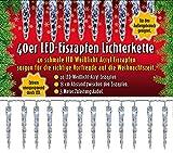Unbekannt 40er LED Acryl Eiszapfenlichterkette für Innen & Außen! 3 Meter Zuleitung!! Minimaler Stromverbrauch durch LED! Erweiterbar! 40 Eiszapfen als Lichterkette! Outdoor Weihnachtsdekoration!!