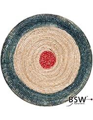 Runde Strohscheibe Deluxe - Ø 60cm   Farbe: blau-rot