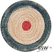 Round Straw Deluxe-Ø 60cm, Colour: Blue/Red by BSW