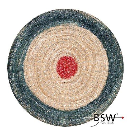 Runde Strohscheibe Deluxe - Ø 80 cm x 8 cm - Zielscheibe - Farbe: blau-rot