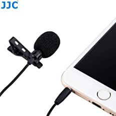 JJC Omnidirectional Lapel Lavalier Microphone MIC Condenser with Ribbon Audio Cable for Smartphone (SGM-28)