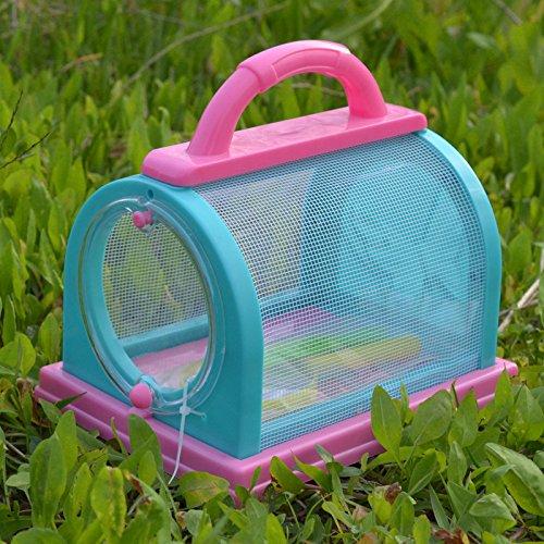 Eleganantimpresionante Caja de Almacenamiento para Insectos, Jaula de terrario, Pinzas Mariposas para lanzar Gusanos de Seda Firefly Grasshopper jardín de Infantes al Aire Libre Experimento