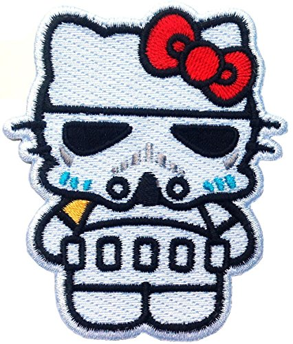 Titan One Europe Stormtrooper Kitty Star Empire Wars Morale Cap Backpack Applique Patch Iron On Aufnäher Aufbügler Patch