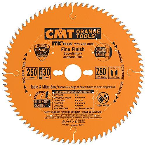 CMT 273.250.80M Lama Circolare Itk-Plus per Taglio di Precisione, Arancio