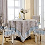 SCLOTHS Mantel de algodón clásico simple decoración de la mesa de comedor 90*90cm