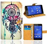 FoneExpert® Sony Xperia Z3 Compact Handy Tasche, Wallet Case Flip Cover Hüllen Etui Ledertasche Lederhülle Premium Schutzhülle für Sony Xperia Z3 Compact