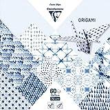 Clairefontaine 95349C Samt-60Blatt Origami Format 15x 15cm Shibori