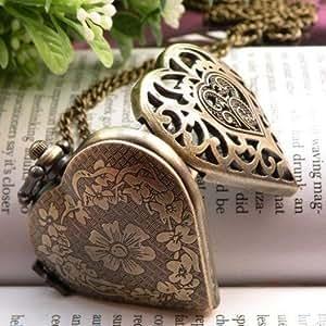 Vintage Bijoux Jewelry - Vintage Victorienne Photo Médaillon Collier Bronze à l'Ancienne - Gainé et boîte-cadeau