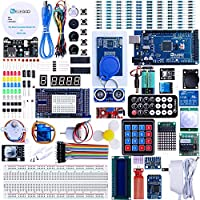 ELEGOO Mega 2560 Project The Most Complete Ultimate Starter Kit Compatible with Arduino IDE w/TUTORIAL, MEGA 2560 R3 Controller Board, LCD 1602, Servo, Stepper Motor