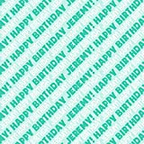 Jeremy Happy Birthday Premium Gift Wrap Wrapping Paper Roll - Teal