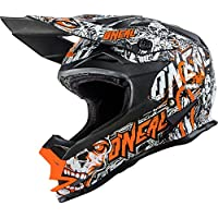 Casco Mx Oneal 2016 7Series Evo Menace Negro-Neon Anaranjado (M , Anaranjado)