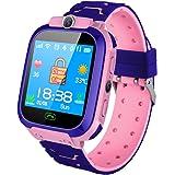 Kid Smart Watch Phone - GPS tracker Smart Watch, SOS call zaklamp en Secure touchscreen Smart horloge voor Kinderen,Pink