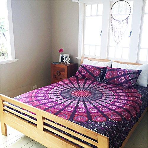 India reversible funda nórdica Ombre Mandala cubierta del edredón rey de las camas tamaño manta Lanza
