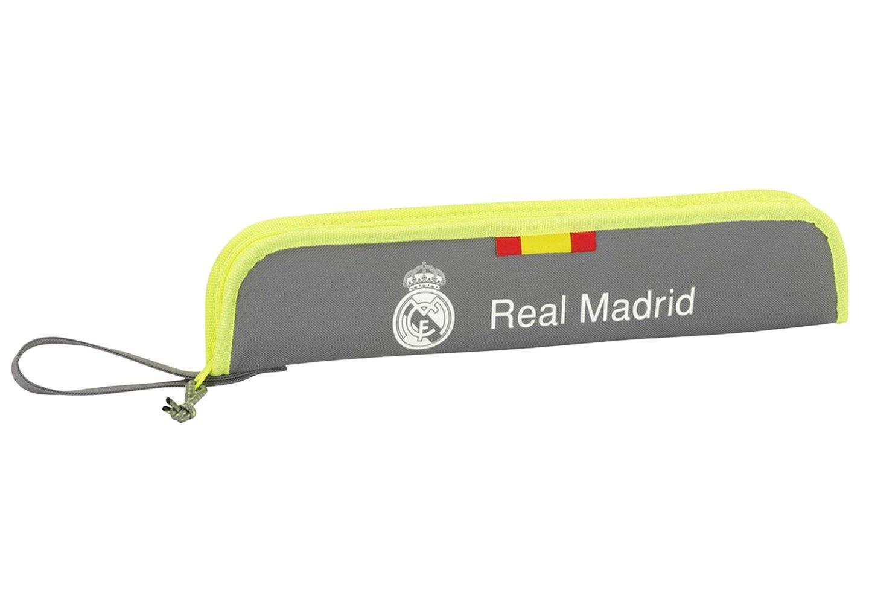 Real Madrid – Portaflautas, Grey (2º Equipacion 2015/2016) (Safta 811554284)