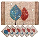 #5: Clasiko 6 Piece PVC Dining Tablemats/Placemats With 6 Tea Coasters