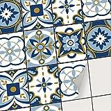 Stickers carrelage adhésif - Autocollant adhésif en Vinyle pour Carreaux muraux I Revêtement pour Faience Salle de Bain et crédence Cuisine (15x20 cm I 6 - Pièces)
