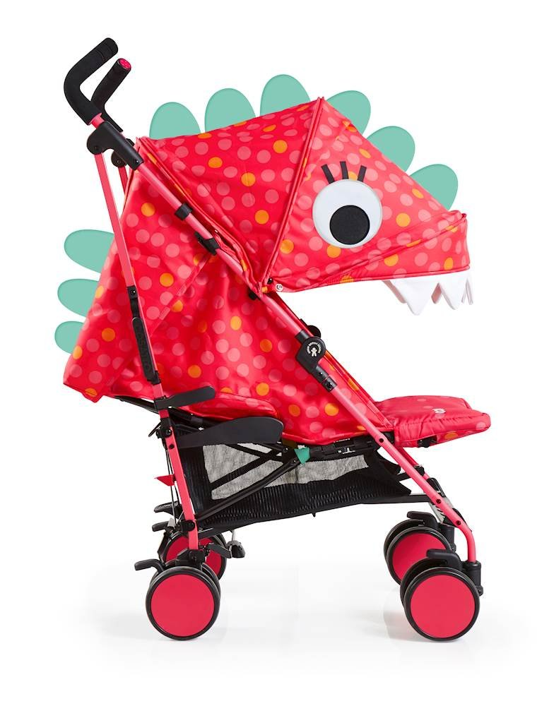 Cosatto Supa 2018 Baby Stroller, Suitable from Birth to 25 kg, Miss Dinomite Cosatto Suitable from birth up to 25 kg stroller; umbrella fold lightweight aluminium chassis with carry handle and folded free-standing feature For added comfort Supa 2018 has an integral upf100+ extended hood; one handed four position seat recline and adjustable calf support Supa 2018 has everything you need: Spacious storage basket, co-ordinating fleece lined footmuff, reversible washable liner, chest pads and recent born head hugger, rain cover and handy cup holder 3