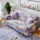 QINQIN All-Inclusive-europäische Sofabezug,Anti-Rutsch-Blume Sofabezug Stretch Sofa Deckel Volle Deckung Sofa Handtuch Pad -H 57-73in