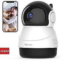 Victure fhd 1080p telecamera di sorveglianza wifi, videocamera interna wireless con visione notturna