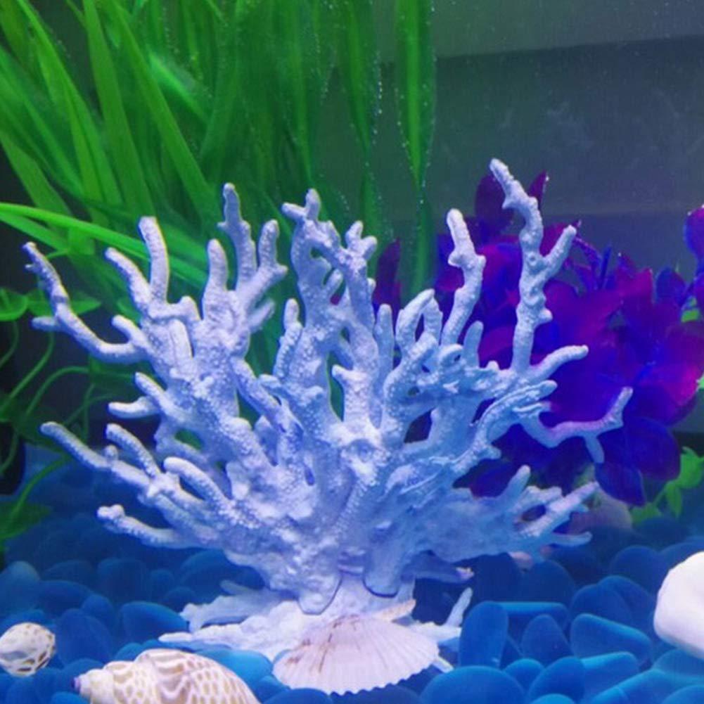 Artificial Coral Fish Tank Decor Floating Faux Sea Plant Ornament