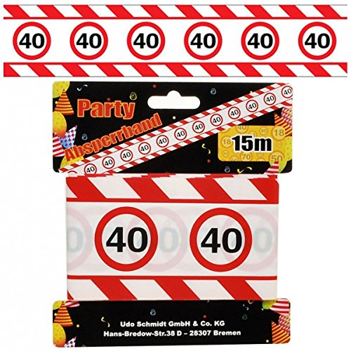 Cumpleaños Cordón seguridad 40años