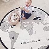 Baby Crawling Mats Adventure World Map Pattern Game Blanket Floor Playmats Kids Infant Child Activity Round Rug 53 inches