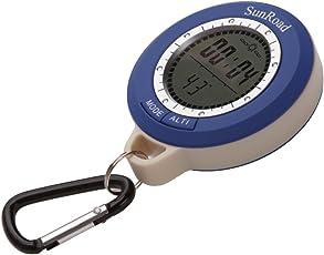 6 in 1 Digital Wasserdicht LCD Digital Kompass und Höhenmesser und Barometer und Thermometer Uhr für Wandern Camping Angeln