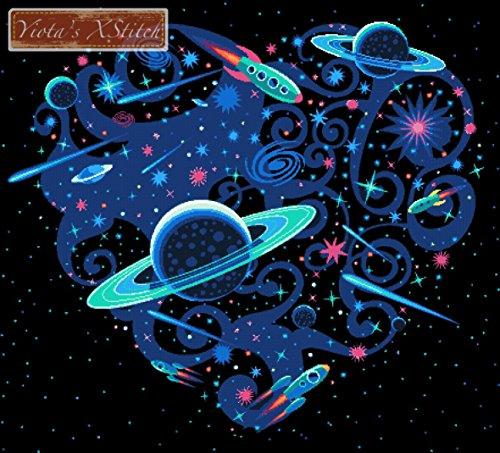 Platz Herz-Planeten Gezählt Set -
