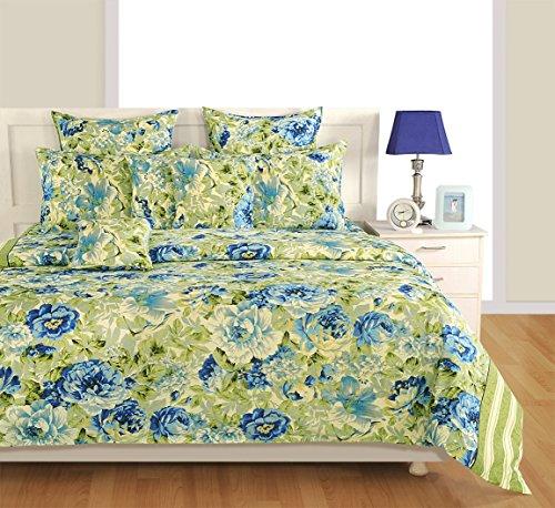 Yuga Dekor beige & blau dekorativ Größe Bettbezug Bett Baumwolle Twin Set 60