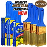 12 Piece(2 inch,2.5inch,3inch) Professional Painters selected,touch up paint brush,paint brush for walls,paint brushes,paint