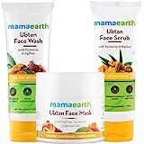Mamaearth Tan Removal Regimen (Ubtan face Wash, Ubtan Face Mask & Ubtan Face Scrub Combo)