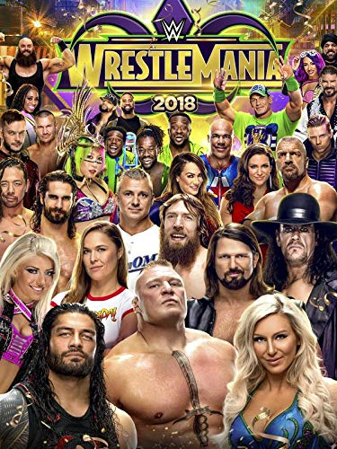 Wrestlemania 34 - Wall Poster Print - 43cm x 61cm / 17 Inches x 24 Inches A2 Wrestlemania 17 Dvd