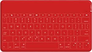 Logitech Keys To Go Ultra Portable Qwerty Tastatur Für Apple Ipad Rot