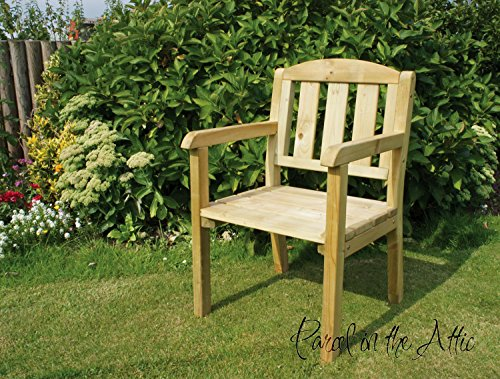 Solid Wood Outdoor Furniture Garden Dining Set Table Chairs Companion Seat Bench (Chair) - 10 Year warranty against rot