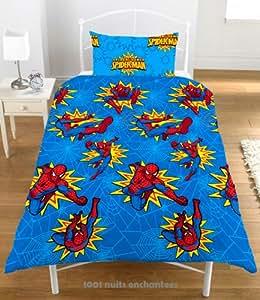 spiderman bettw sche 135x200 spider sense k che haushalt. Black Bedroom Furniture Sets. Home Design Ideas