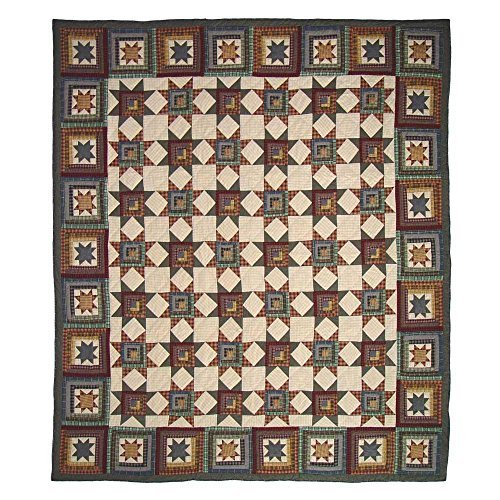 Patch Magic Twin Cottage Star Quilt, 65-Inch by 85-Inch by Patch Magic - Quilt Twin Cottage