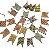3.3M Banderines Guirnaldas de Bandera Banderines Tela,Guirnaldas de Tela,Tri/ángulo Retro Banner,para Dormitorio,Fiestas de Cumplea/ños o Decoraci/ón