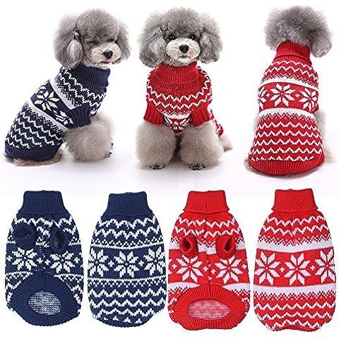 Pet vestiti del cane del fiocco di neve accessori catena per cani