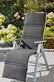 Relaxsessel-Auflage GRAU Relaxauflage Relaxpolster Hochlehnerauflage GARDENLINE