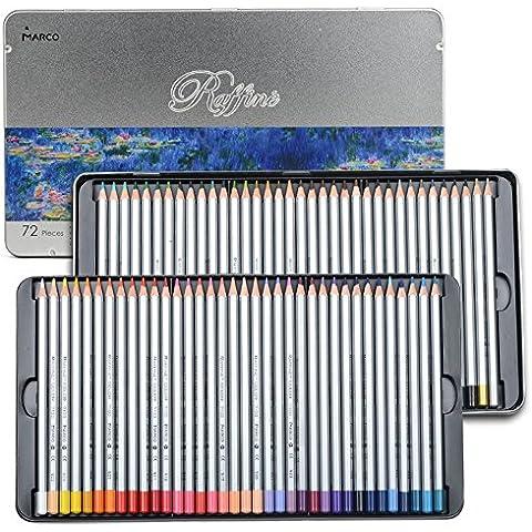newdoer 72arte dibujo lápices de colores Set, en lata de metal, el mejor regalo de Navidad.