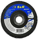 S&R Fächerschleifscheibe 125x22,2 T29, (Körnung 80). Set 5 Stück für Schleifen von Stahl und...
