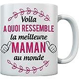 Mug - Mug pour maman fête des mères Tasse meilleure maman cadeau maman 11 Ounce Blanc
