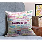 Tied Ribbons Daughterâ BirtHDay Gift Printed Cushion(12 Inch X 12 Inch With Filler)