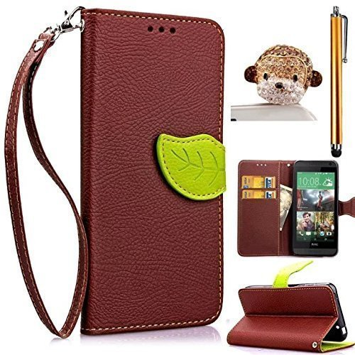 Dragonne Etui iPhone 6 Plus /6S Plus, Sunroyal® Portefeuille Housse pour Apple iPhone 6 Plus et iPhone 6S Plus (5.5 pouces) Premium PU Cuir Leather Coque Feuille Leaf Case Cover Swag de Protection Bum Marron