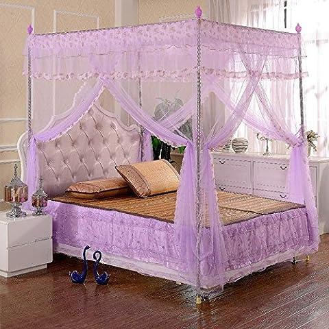 Tres redes lavanda 1.5 acero inoxidable piso soporte redes 1,8 M hogar decoración de lujo en las redes de la cama , 2