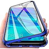 SiGrid Fodral för Huawei P Smart Z, magnetiskt adsorptionsfodral transparent glas främre baksida fodral med metallram stark m