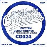 D\'Addario Corde seule à filet plat pour guitare électrique D\'Addario CG024, .024