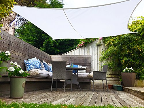 This shade sail is really large so you ought to ensure there's enough space in your patio, yard, or wherever you may want to install it. Some smaller versions of this shade are really easy to install but larger ones my need a bit of work. UV protection and rain rain proof are core properties of this shade sail, whilst the supplied carry case is additionally handy, The product is easy to maintain and be left out in mild weather.