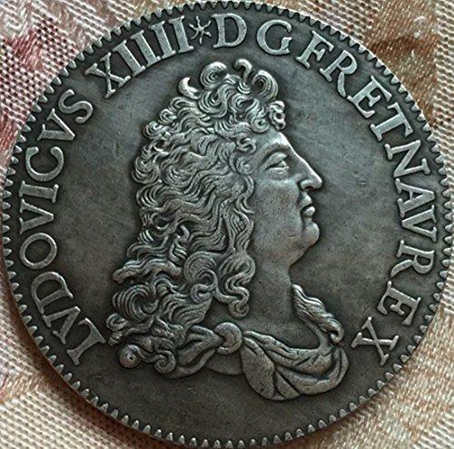 Bespoke Souvenirs Rare Antique Ancient European French 1686 Silver Color France 1 ECU Louis Coin Seltene Münze -